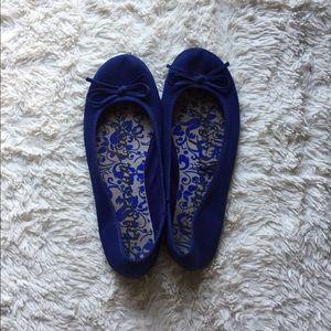 Blue Flats Size 7